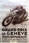 Racer Digital Art Posters - Circuit des Nations 1937 Poster by Nomad Art And  Design
