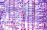 Printed Photo Prints - Circuit Trace II Print by Jerry McElroy