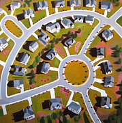 Suburban Paintings - Circular Development by Toni Silber-Delerive