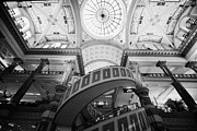 Escalator Prints - circular escalator at the forum shops at caesars palace luxury hotel and casino Las Vegas Nevada USA Print by Joe Fox