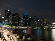 Sydney Skyline Art - Circular quay at night by Matteo Colombo