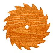 Circular Saw Blade With Pine Wood Texture Print by Stephan Pietzko