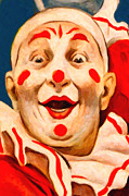 Laugh Metal Prints - Circus Clown - 2012-1230 - Painterly Metal Print by Wingsdomain Art and Photography
