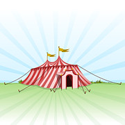 Outdoor Theater Posters - Circus Entertainment Tent Poster by Vitezslav Valka