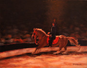 Circus. Paintings - Circus Flora Horse Act by Daniel Fishback