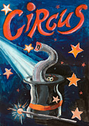 Rays Paintings - Circus Funny Illusion Poster by Kiril Stanchev