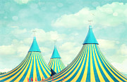 Whimsical Children Prints - Circus tent 2 Print by Sylvia Cook