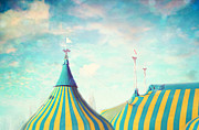Big Top Framed Prints - Circus tent Framed Print by Sylvia Cook