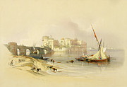 Port Paintings - Citadel of Sidon by David Roberts