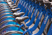 Citibank Prints - Citi Bike Bicycles I Print by Clarence Holmes