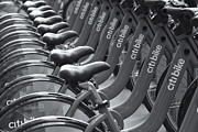 Citibank Prints - Citi Bike Bicycles II Print by Clarence Holmes