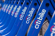 Citibank Prints - Citi Bike Bicycles III Print by Clarence Holmes