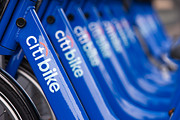 Citibank Prints - Citi Bike Bicycles V Print by Clarence Holmes