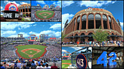 Citi Field Prints - Citi Field Collage Print by Allen Beatty