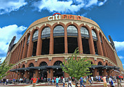 Citi Field Prints - Citi Field Entrance Rotunda Print by Allen Beatty