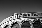 Mlb Pyrography Metal Prints - CITI Field Metal Print by Jani Foeldes