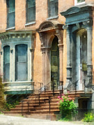 Stoops Prints - Cities - Albany NY Brownstone Print by Susan Savad