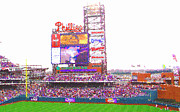 Philadelphia Phillies Posters - Citizens Bank Park Poster by Barbara Hammond