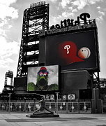 Philadelphia Phillies Stadium Digital Art Posters - Citizens Bank Park Philadelphia Poster by Bill Cannon