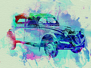Vintage Car Drawings Prints - Citroen 2CV Print by Irina  March