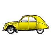 2cv Digital Art - Citroen 2cv by Roy Isaacs