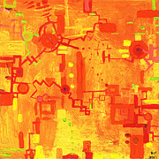 Electronic Paintings - Citrus Circuitry by Regina Valluzzi