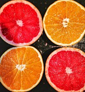 Grapefruit Digital Art Prints - Citrus foursome Print by Olivier Calas