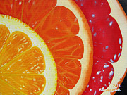 Grapefruit Painting Prints - Citrus Hue Print by Kayleigh Semeniuk