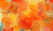 Citrus Digital Art Prints - Citrus Passion - Abstract - Digital Painting Print by Andee Photography