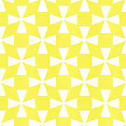Triangles Prints - Citrus Twirl Print by Linda Woods