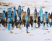 City Abstract Print by Jolina Anthony