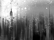 Blurred Digital Art Framed Prints - City-Art NY Manhattan Framed Print by Melanie Viola