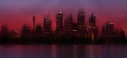 City-art Sydney Skyline Print by Melanie Viola