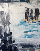 Lifestyle Painting Originals - City Asipirations by Brandy Magill