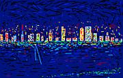 City At Night Print by Anand Swaroop Manchiraju