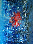 Pallet Knife Painting Originals - City Beat by Rob Van Heertum
