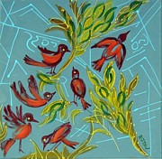 Nature Study Paintings - City Birds by Ruth Jamieson