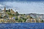 City By The Sea Print by Ayse Deniz