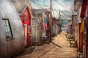 Vintage Houses Prints - City - Canandaigua NY - Shanty town  Print by Mike Savad