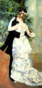 Bougival Prints - City Dance Print by Pierre Auguste Renoir