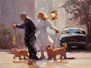 Carol Smith Myer - City Dog Walk
