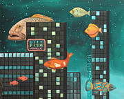 Leah Saulnier The Painting Maniac - City Fish edit 5