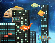 Leah Saulnier The Painting Maniac - City Fish