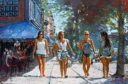 Ylli Haruni Prints - City Girls Print by Ylli Haruni