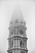 Philadelphia City Hall Framed Prints - CIty Hall Fog Framed Print by Tim Nault