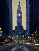Philadelphia City Hall Framed Prints - City Hall in Philadelphia Framed Print by Carol M Highsmith