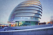 Southwark Prints - City Hall London Print by Joan Carroll