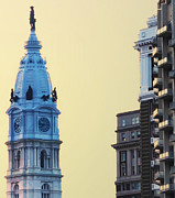 City Hall Digital Art Metal Prints - City Hall Tower Metal Print by Bill Cannon
