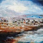City In The Mist Print by Meyer Van Rensburg