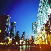 Business-travel Prints - City In Twilight Print by Setsiri Silapasuwanchai